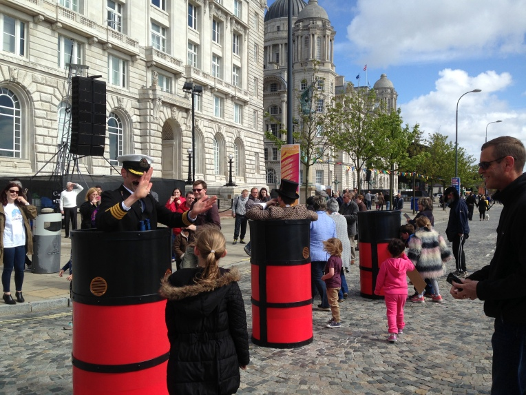 Cunard themed street theatre