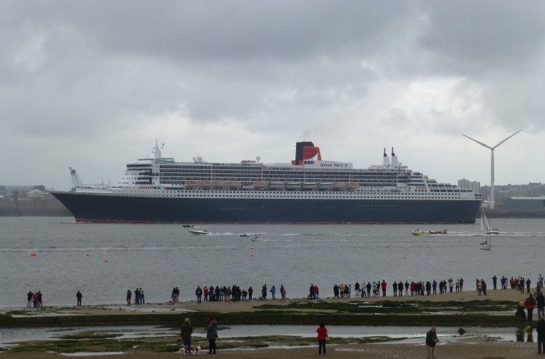 Queen Mary 2 on the way to visit her sisters, Liverpool