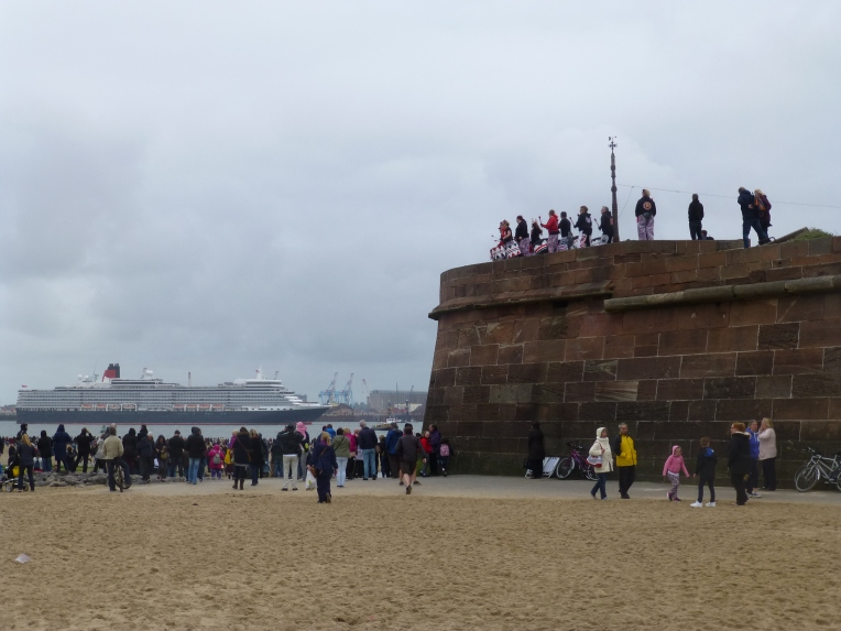 Drummers entertaining the crowds at New Brighton