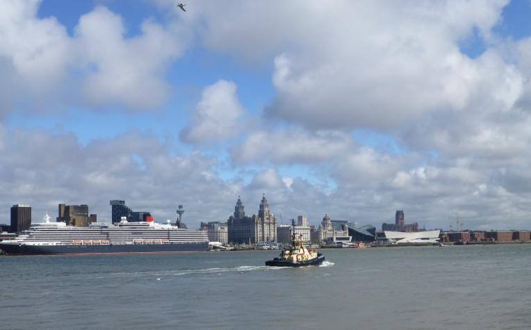 Cunard's Queen Elizabeth at Liverpool Cruise Terminal