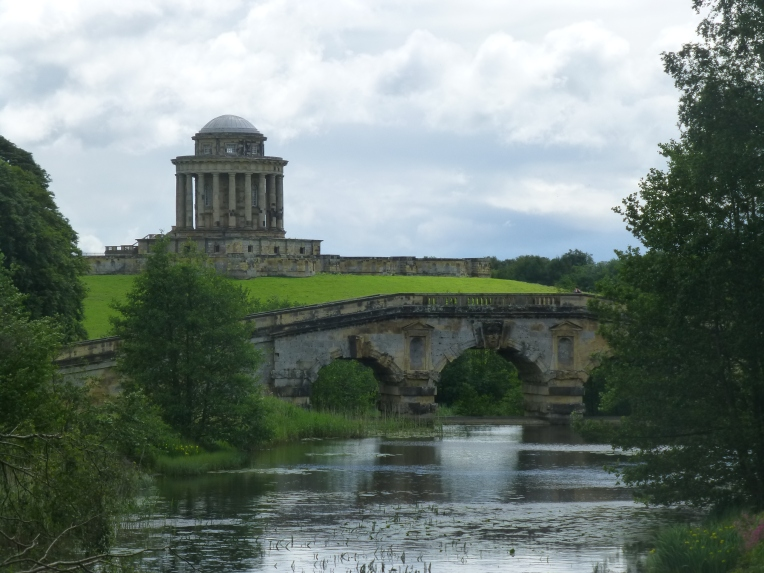 Mausoleum and New River Bridge at Castle Howard