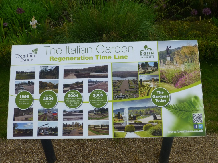 Italian Garden Regeneration Time Line Trentham Gardens