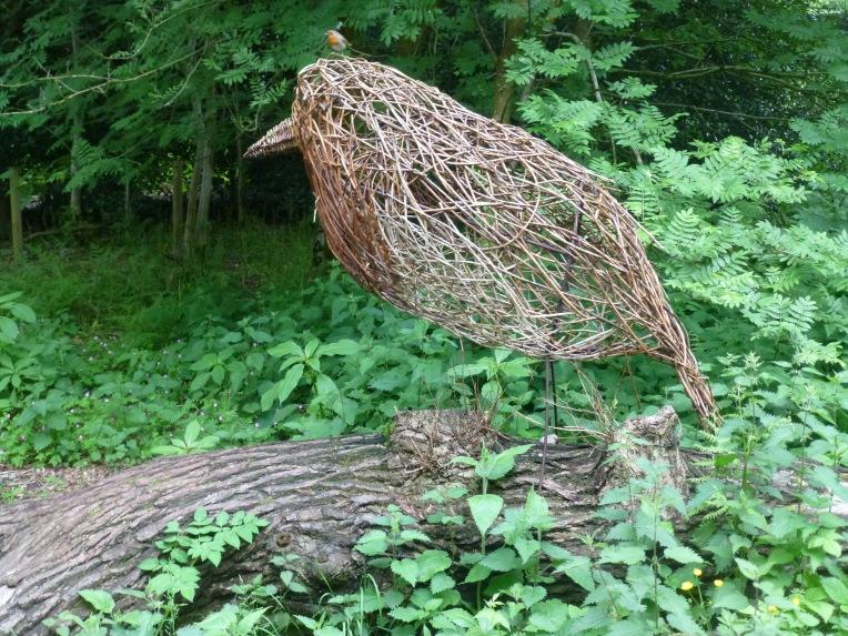 Trentham Gardens Robin Sculpture