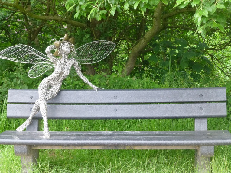 Trentham Gardens Fairy on bench