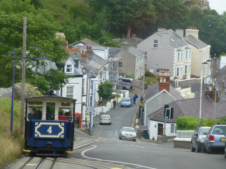 The Great Orme Tramway leaving Llandudno