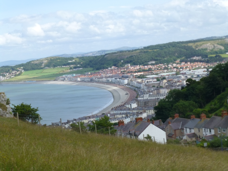 view of Llandudno from The Great Orme Tramway