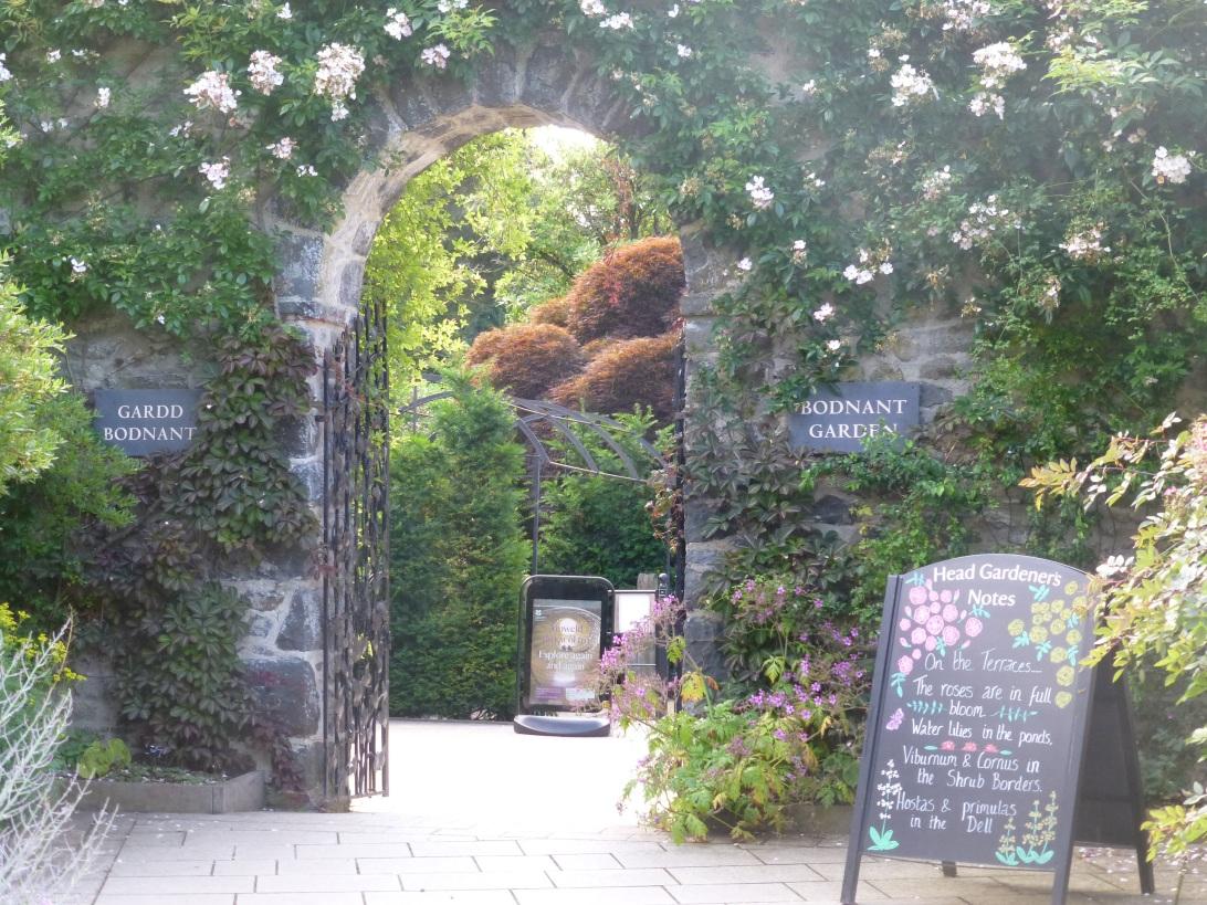 Bodnant Garden entrance