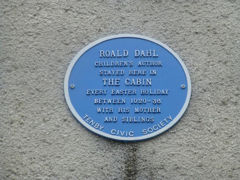 Blue Plaque Roald Dahl Tenby